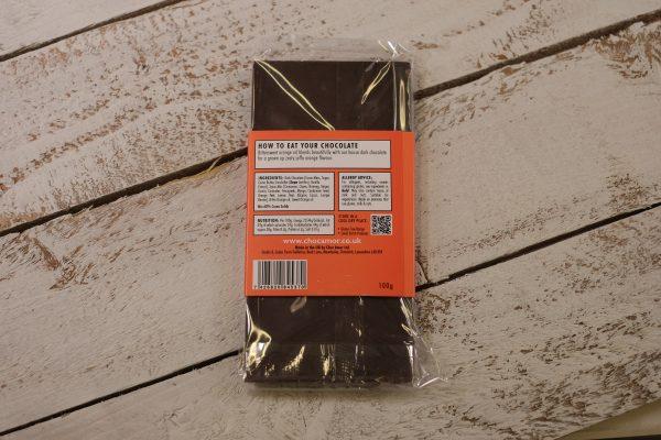 bitter orange chocolate bar back