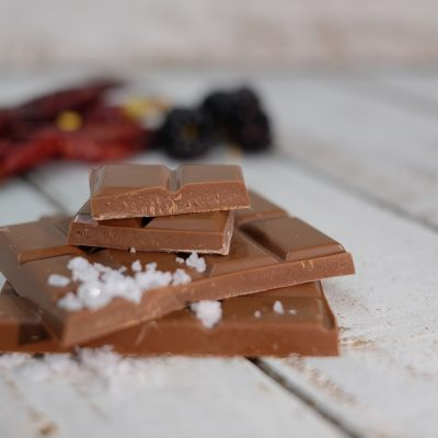 blackcurrant, sale and chipotle chocolate
