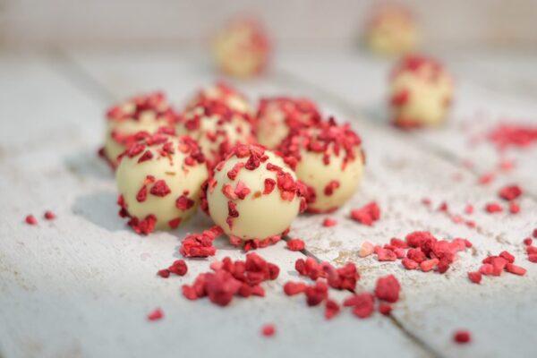 Raspberry & Champagne Truffles