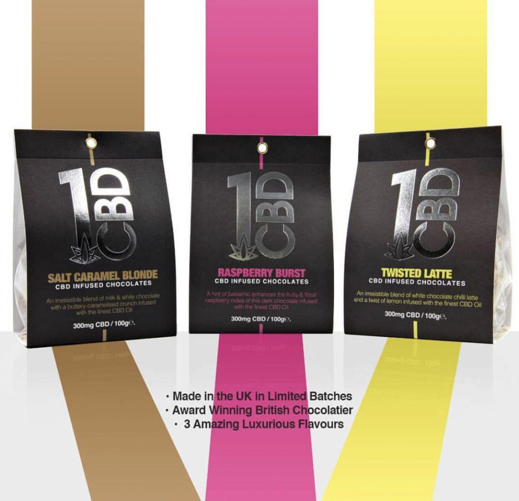 1CBD infused chocolate range