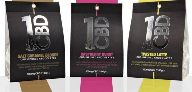 1CBD infused chocolate range